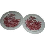 SALE TAYLOR , SMITH and  TAYLOR,. Pattern is Red Abbey scenes,