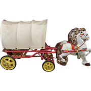 Mobo Pony Pioneer Covered Wagon, Circa 1949