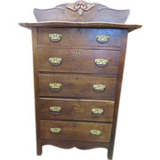 Arts And Crafts Victorian Oak Highboy, Circa 1890s