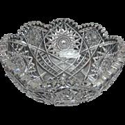 SOLD American Brilliant Period Fruit Bowl, Circa 1876-1890