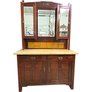 European Arts and Crafts Art Deco Vanity Cabinet, Circa 1920-1930
