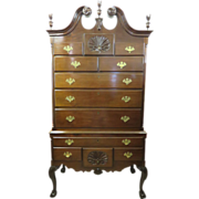 Colonial Revival Chippendale Style Philadelphia Highboy Chest-on-Chest, Circa 1876-1895