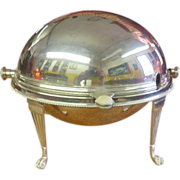 Gravy Server Domed-Lid Martin Hall & Co Sheffield England Nickel Silver 1854-1866