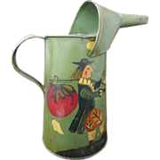 Hand Painted Folk Art Oil Can, Late 19th Century, Signed M. Phillip,