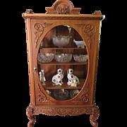 Vitrine Victorian Oriental Chippendale Design Circa 1900-1910