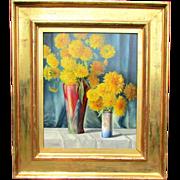 Still Life with Yellow Flowers by Austrian Artist Alois Raymond Hein (A. R. HEIN PINX ...