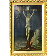 18th c. Old Master Painting Jesus Crucifixion by Antonio Balestra, 1731.