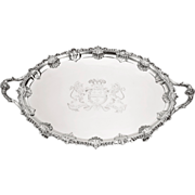 SALE A George III silver two-handled tea tray, Thomas Hannam & John Crouch, London ...
