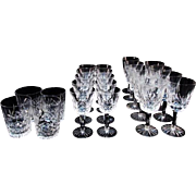"SALE Waterford  ""Lismore"" Crystal 4.5""  Double Old Fashioned Glasses"