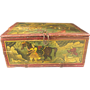 SALE A 19th century antique Persian hand painted box.