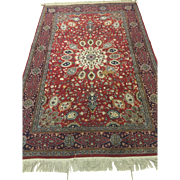 "SOLD Indian Tabriz Oriental Rug - Hand Made - 100% Wool 4'8"" x 7'3"" Excellent condit"