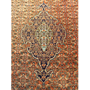 "SALE Vintage Hand Made Persian Bijar Wool Rug Medallion Beauty  10'23""x7'28"""