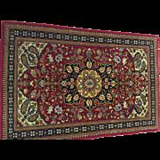 "SALE Genuine Super fine Persian Qum 100% Wool Rug  3'73""x2'50"" Excellent Condition"