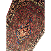 SOLD Vintage Hand Made Persian Bijar Wool Rug Medallion Beauty 5'X3'