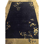 "SALE Fine Chinese art deco Tone on Tone Carpet Blue 6'2""x8'9"" Circa ..."