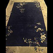 "SALE Fine Chinese art deco Tone on Tone Carpet Blue 6'2""x8'9"" Circa ..."