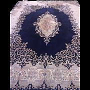 """SALE Fine Authentic Persian Kermen Oriental Rug  9"""" x12"""" Excellent Condition"""