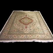 "SALE Vintage Persian Taba Taba Tabriz Hand knotted Rug 10'3"" x 13'5"""