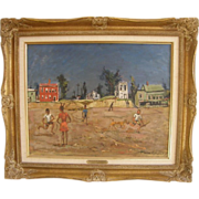 =MASTERPIECE= oil on canvas by Nicolai S. Cikovsky (American: 1894-1984) =WPA=