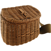 =RARE= Child's Wicker Creel ca.1895-1935