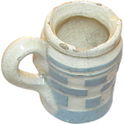 RARE: 22mm Miniature blue checkered creamer