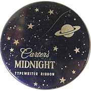 1960's advertising tin, Carter typewriter ribbon can