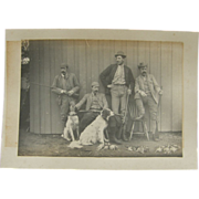 Hunting photograph 1890's upland bird hunters