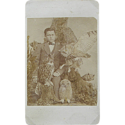 Boy taxidermist photograph ca.1860's - Rare
