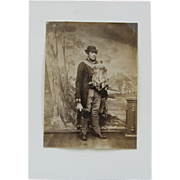 1860's Trapping, photograph, English, private estate game warden