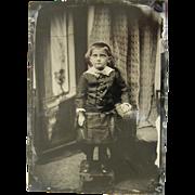 Half Plate Tintype, ca.1870's, American, boy.