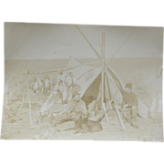 Hunting Camp, ca.1880's, American plains
