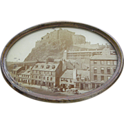 Artistic. Albumen, ca.1860's, Scotland, Edinburgh Castle.