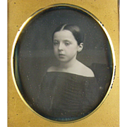 -Girl- 6th plate Daguerreotype photo ca.1840's