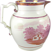 Pink Luster Pitcher ca.1820 - Thomas Jefferson