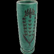"""1930's Gustavsberg Argenta kelp vase 5⅞"""" tall, Sweden art pottery"""