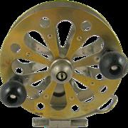 """Pflueger Captain fishing reel 5.25"""" diameter brass openwork"""