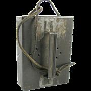 =RARE= Fishing, tin meal worm bait box ca.1900