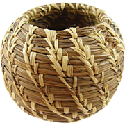 Pine needle Indian basket ca.1930's.