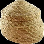 Potawatomi Indian pine needle basket Michigan ca.1900