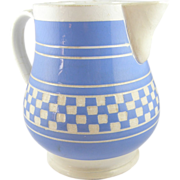 BIG Villeroy & Boch Dresden pitcher blue checkerware 7¾""