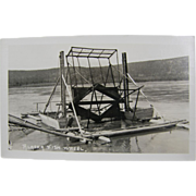 RPPC 1947 Alaska fish Wheel