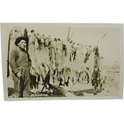 1920's Trapping coyote, Sioux Indian, Dakotas - RPPC