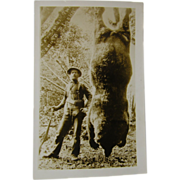RPPC, grizzly hunting ca.1930, Seward Alaska.
