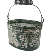 Child's oval bait bucket ca.1920-1940's