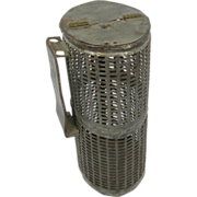 Bait box cricket cage ca.1900-1930's belt-worn