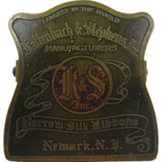 Paperholder, ca.1900, silk ribbons Newark NJ