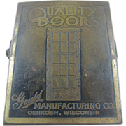 Paperholder, ca.1930, Oshkosh Wisconsin, Gould doors