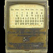 Paperholder, ca.1915, calendar, logging Idaho
