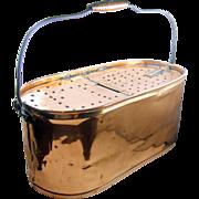 =RARE= Copper minnow bait bucket, Kentucky, ca.1900, oval