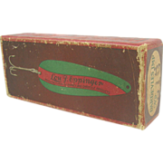 Fishing lure box, Lou Eppinger, Dardevles Imp spoon, Osprey